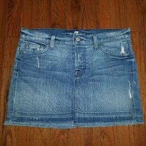 7 for all mankind Denim Skirt